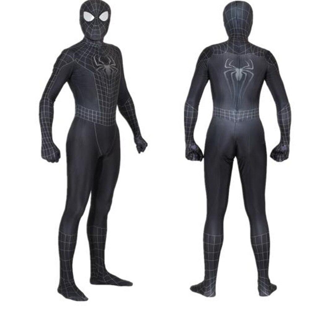 Competent Unisex Kids Spiderman 3 Black Symbiote 3d Cosplay Costume Zentai Spider Man Superhero Bodysuit Suit Jumpsuits Halloween Fragrant Aroma Holidays Costumes