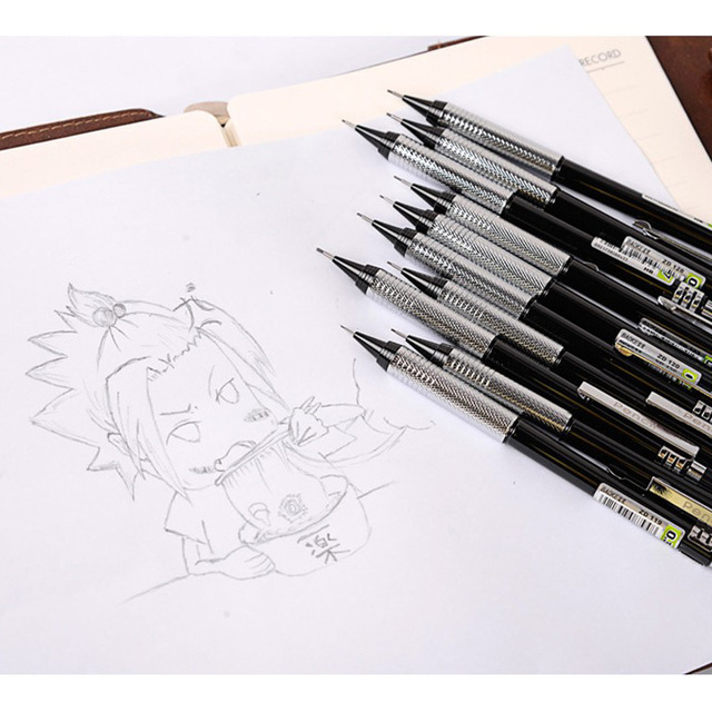 stationery drawing pencil single hb zd121 0 5mm automatic metal art