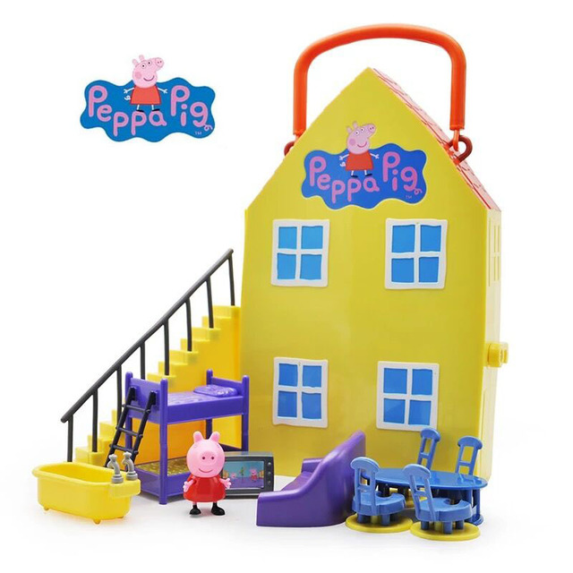 Genuine Peppa Pig Peppau0027s Deluxe House ACTION PLAYSET FIGURE PLAY SET  Playhouse Kids Toy GIFT Official
