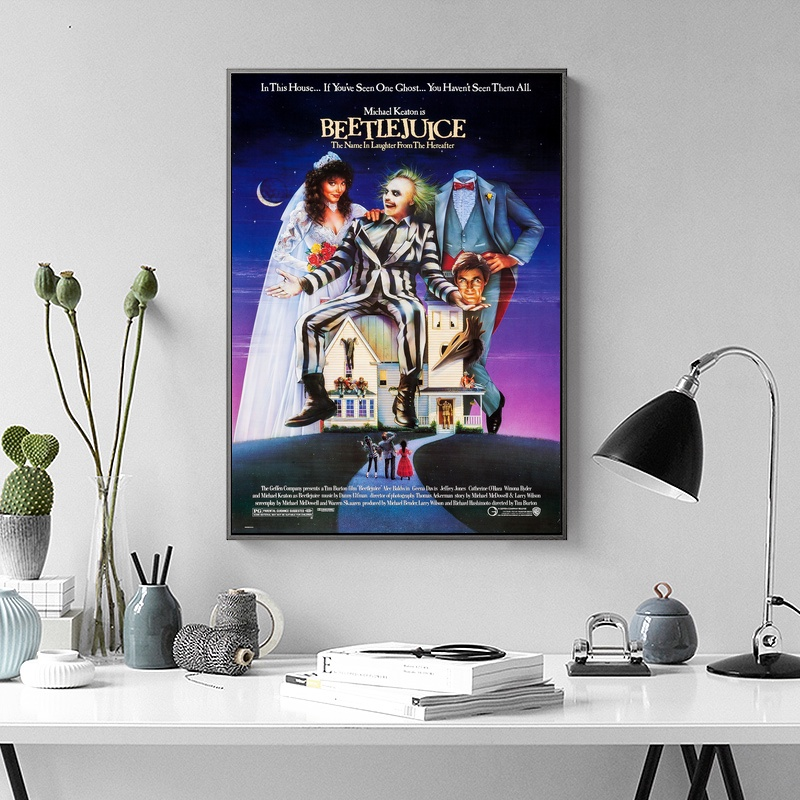 Beetlejuice TV Movie Poster Wall Art Wall Decor Silk Prints Art Poster Paintings For Living Room-in Painting u0026 Calligraphy from Home u0026 Garden on ... & Beetlejuice TV Movie Poster Wall Art Wall Decor Silk Prints Art ...