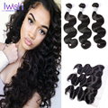 Brazilian Body Wave Virgin Hair With Frontal Closure Iwish Brazilian Body Wave With Closure Human Hair Extensions With Closure