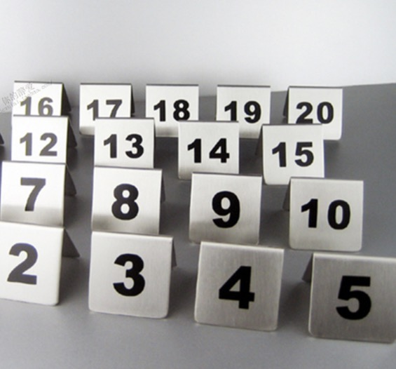 ( Number From60-69) Stainless Steel Table Number Table Plate Digital Restaurant Card--Square 5x5cm