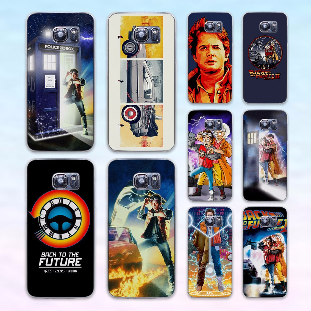 Back To The Future boy transparent clear hard case cover for Samsung Galaxy s6 s7 edge s4 s5 mini note 4 note5