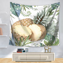 Home Decorative Wall Hanging Carpet Tapestry Rectangle Bedspread Pineapple Painting Pattern GT1137(China)