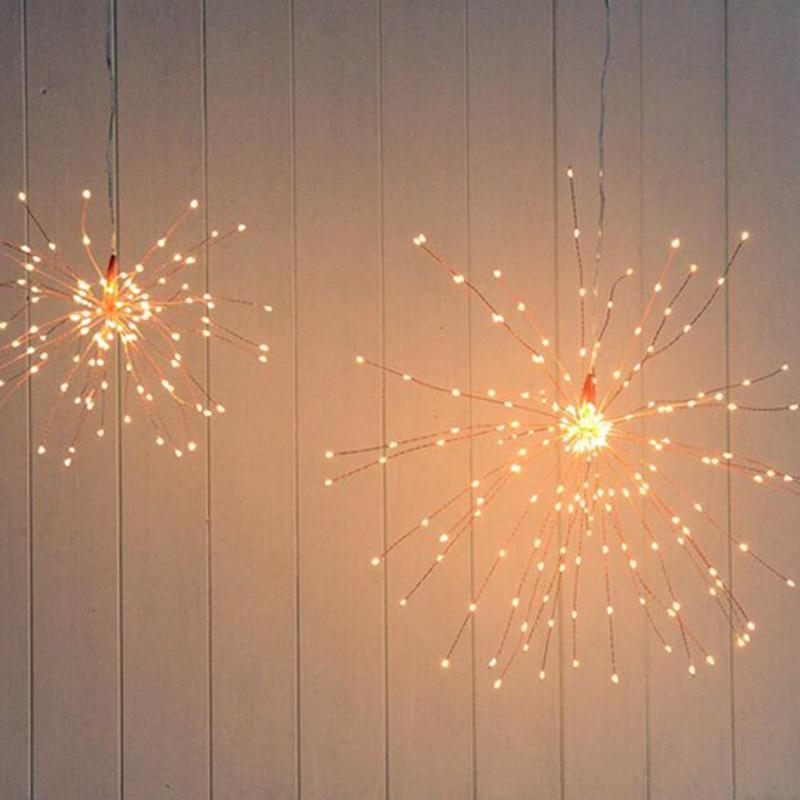 pendurado starburst fada luz da corda natal ano novo iluminação