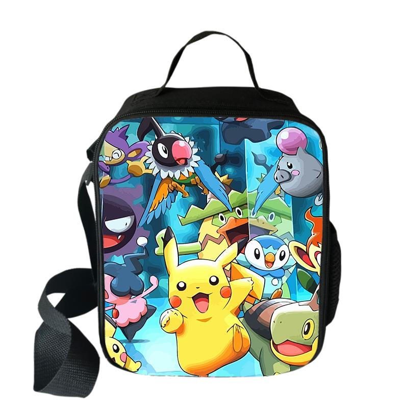 Pokemon GO Pikachu Anime Thermal Cooler Insulated Lunch Bag Kids Food Container