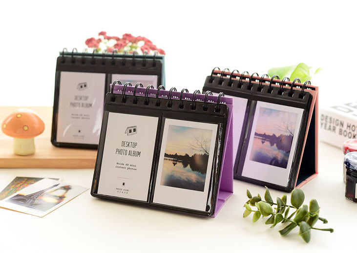 buy 68 pockets mini instant photo calendar album diy picture paper sheet. Black Bedroom Furniture Sets. Home Design Ideas