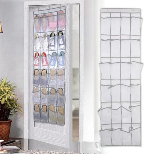 Lovely 24 Pockets Door Hanging Holder Shoe Hanger Organiser Shoe Rack Wall Storage  Bag Room Factory Price