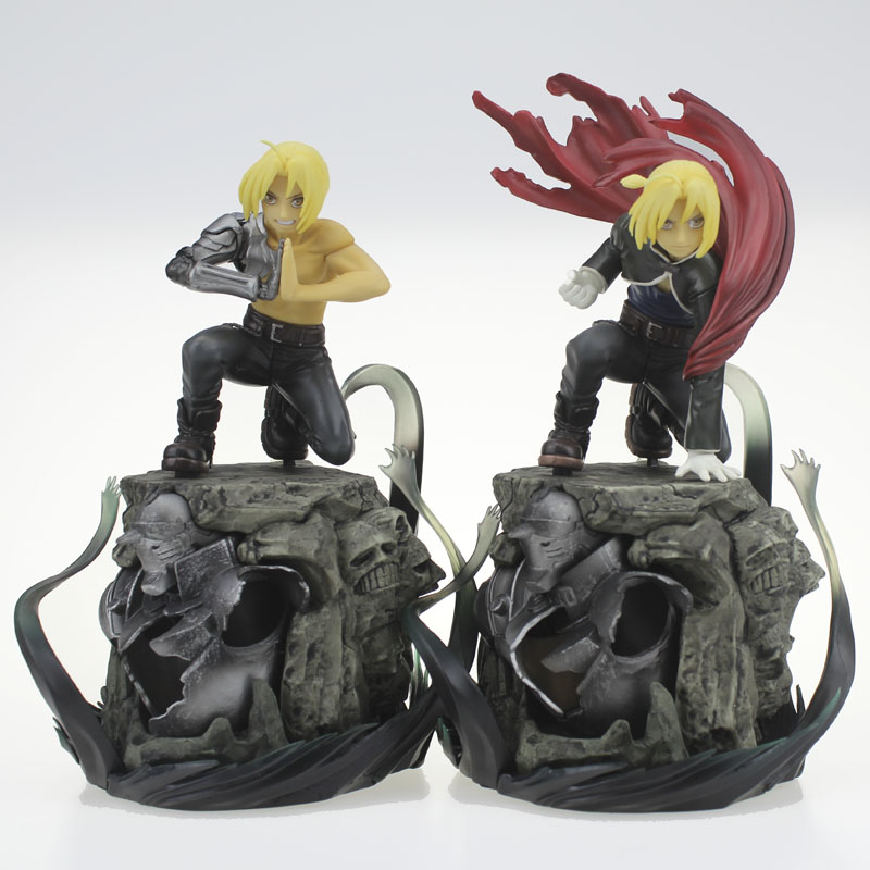 Free Shipping 9 Fullmetal Alchemist Anime Edward Elric 2 Version Boxed 22cm PVC Action Figure Collection Model Doll Toys Gift stock sale pvc dota crystal maide game doll action figure model toy for christmas gift 22cm free shipping