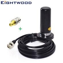 Eightwod Магнитная база 9 см авто антенна для авто автомобиля радиотелефон антенна 5 м кабель VHF/UHF двухдиапазонный и для байонетного соединителя на разъем SMA адаптер