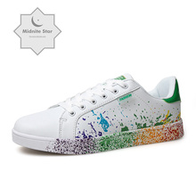 Casual Shoes  men women Sneakers 2019 Fashion White For Women Breathable PU Leather Tennis