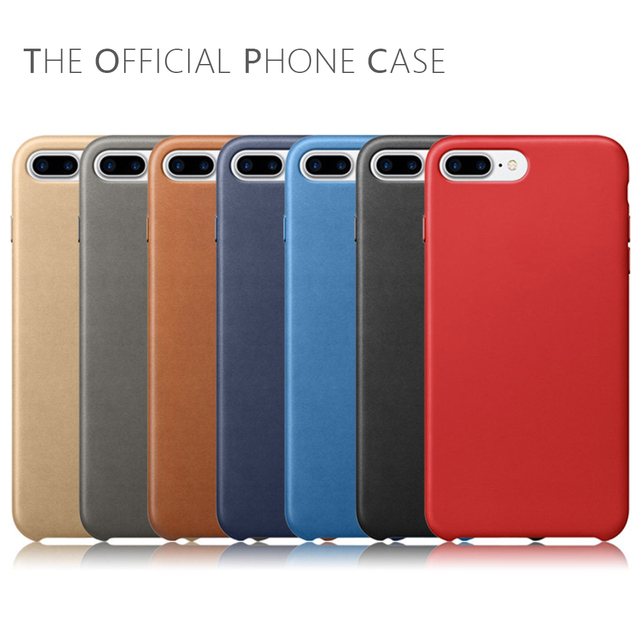 the latest 69766 ac143 US $7.99 |NEW Original Have LOGO PU Leather Case For iphone 6 6s Plus For  Apple For iPhone 7 8 Plus Phone Cover For iphone X Shell Bag-in Fitted  Cases ...