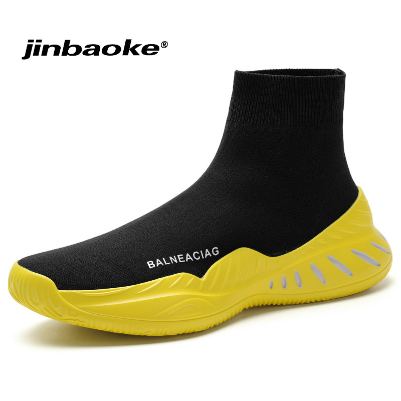 Hight Top Socks Shoes Breathable Running Shoes for Men Wear-resisting Slip-on Sports Shoes Sneakers Outdoor Comfortable Walking 361 men s anti slippery outdoor sports hiking shoes damping wear resisting comfortable mountain sneakers 571543325q1w55