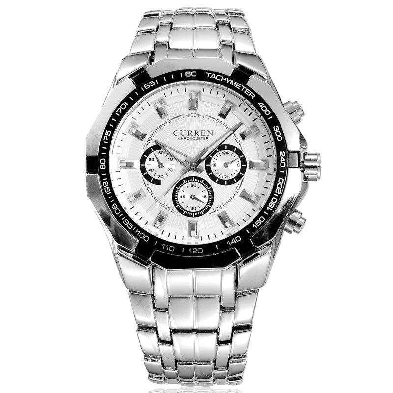 Curren Men s quartz Full stainless steel Military Casual Sports watches waterproof Brand Hot Sale relogio