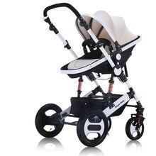 Роскошные Детские Коляски 2 в 1 высокая-пейзаж коляска Портативный складной коляски дешевле Детские коляски четыре сезона доступны