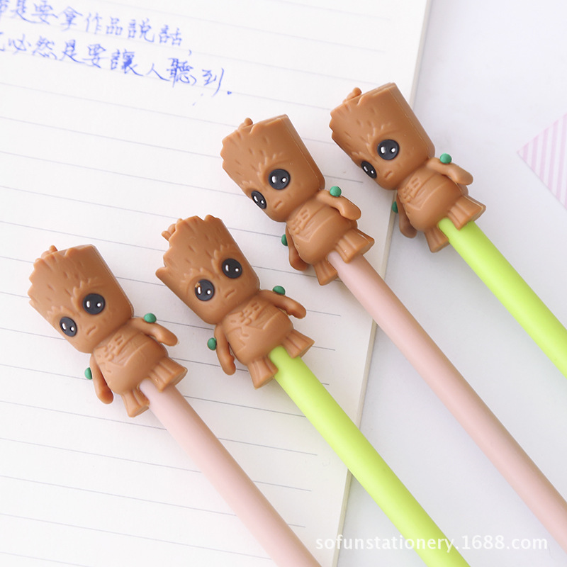 Cute Cartoon Flowerpot Baby Gel Pen For Writing Kawaii Student Black Ink 0.5mm School Supplies Stationery