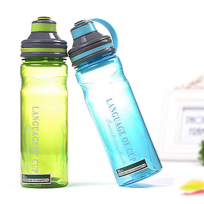 No Smell My Portable Space Water Bottles with Tea Infuser Plastic PC Bike Sports Cycling Bottle 600ml/800ml/1000ml BPA Free