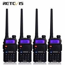 4 шт. двухстороннее Радио Портативная рация Retevis RT-5R RT5R 5 Вт 128CH УКВ Dual Band FM Радио VOX сканирование Портативный любитель Радио станции