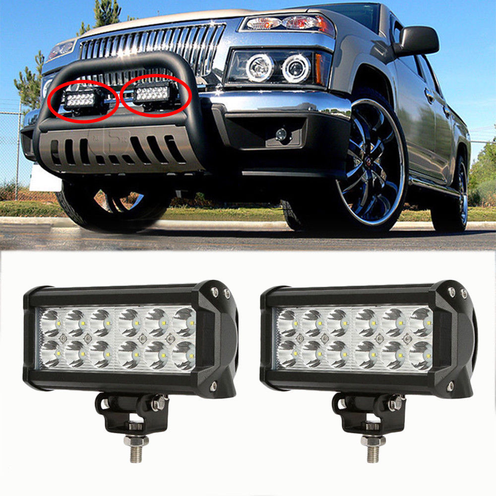 2Pcs 2520Lm 36W High Power Waterproof LED Offroad