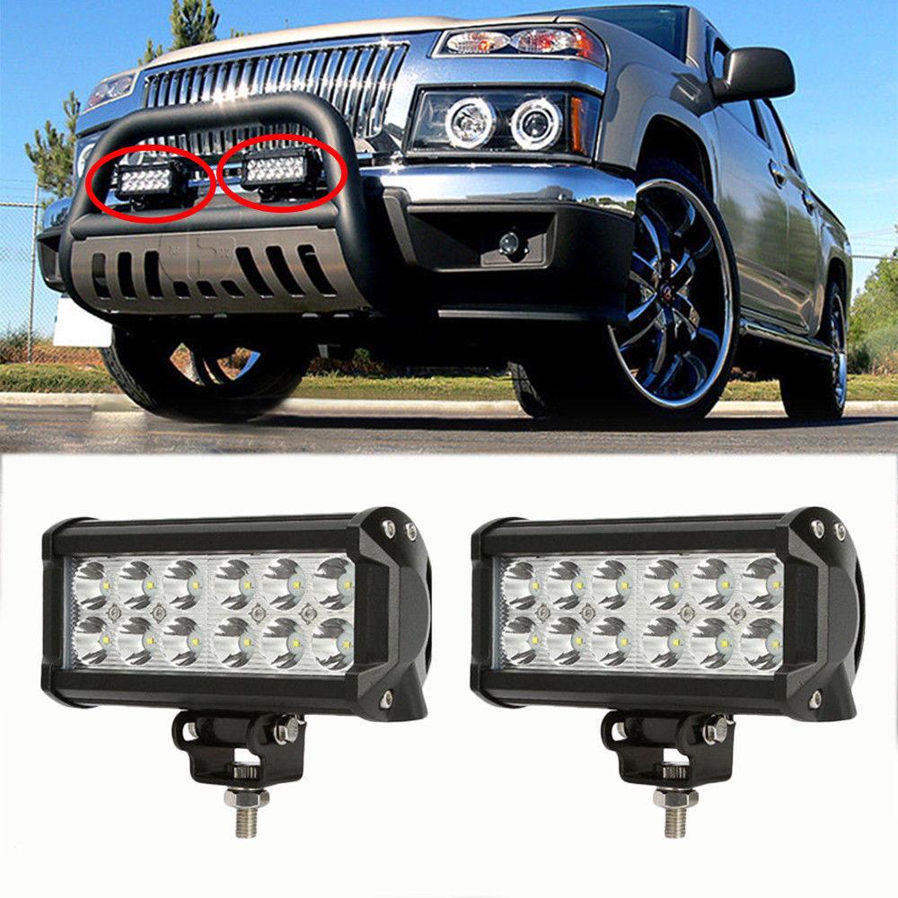 2ks 2520Lm 36W vysoce výkonný vodotěsný LED terénní pracovní světlo terénní silniční světlo s 12 LED 3W pro automobilové nákladní auto mlhové světlo