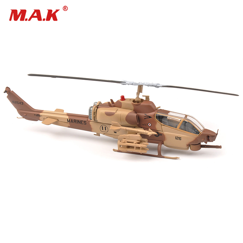 1:72 MARINES AH-1W Super Cobra Armed Helicopter Aircraft model IXO Collectable Helicopter Toy Model 1 400 jinair 777 200er hogan korea kim aircraft model