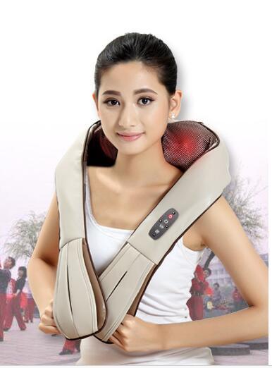 Top grade 2018 New wireless neck massager rechargeable Shoulder Massager Neck Massage kneading cervical massage shawl plunging neck solid top