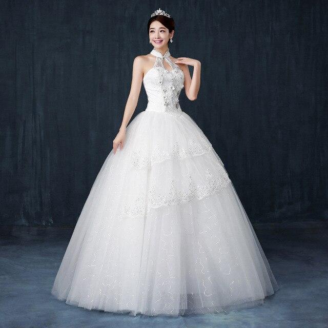 AliExpress nuevo sencillo vestido de boda Delgado. cabestro vestido ...