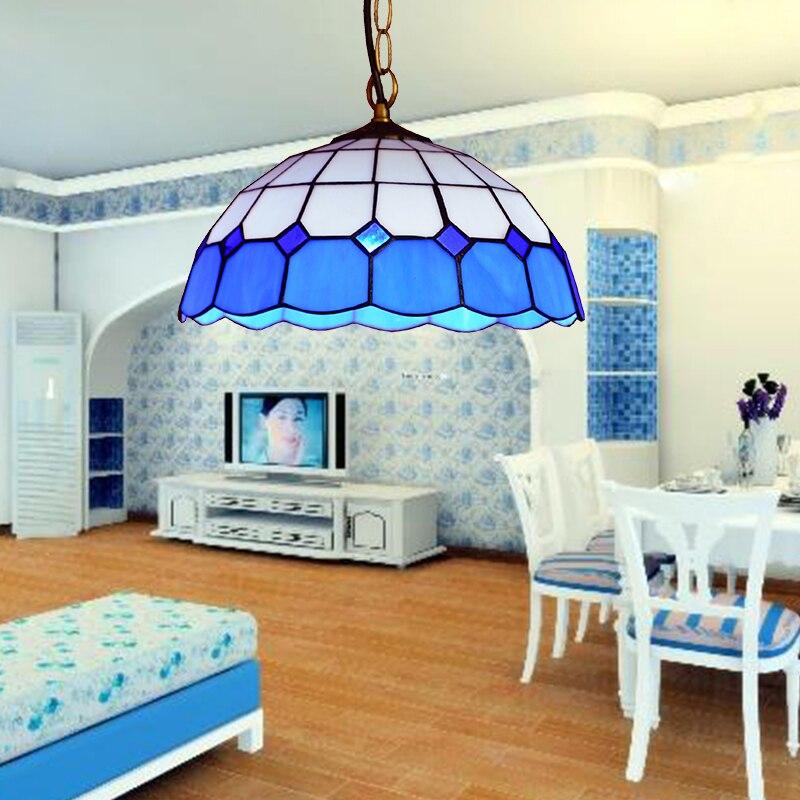 Restaurant, bar, light, blue, single head, simple balcony, bedroom, hanging lamp, Mediterranean Restaurant