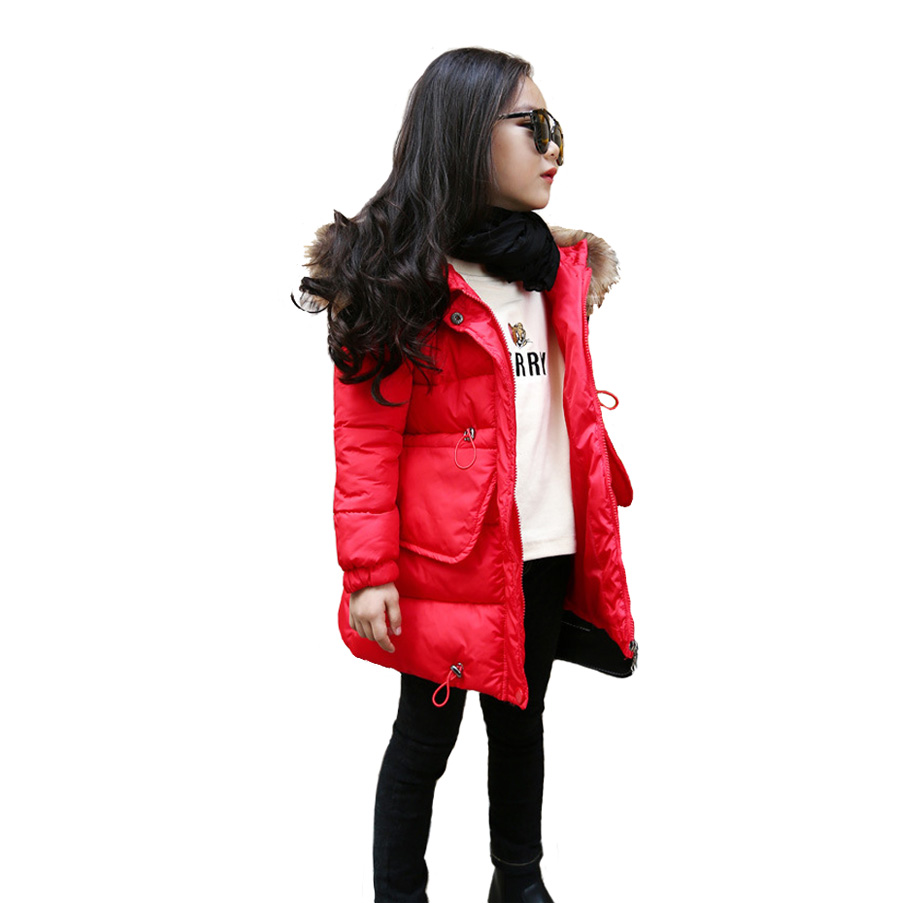 Children Quality Winter Cotton Girls/ Boys Coat Baby Kids Thicken Fur Hat Girls Red/ Pink/ Grey/ Black Winter Clothing pink and red children sets baby girls