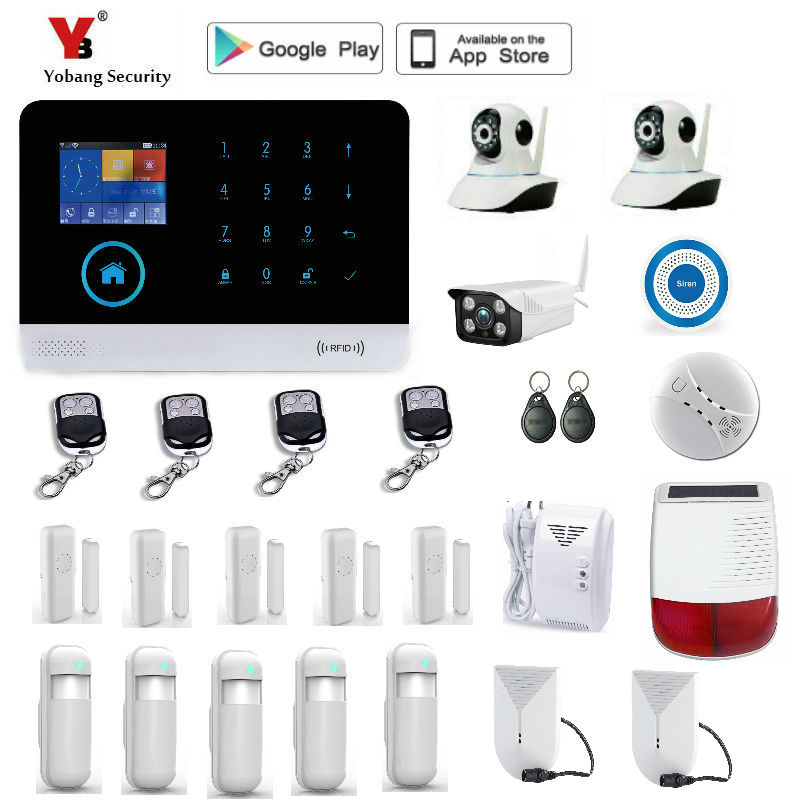 Yobang Security wireless wifi gsm alarm system TFT display door sensor home security alarm systems wireless Siren Kit yobang security gsm wifi auto dial home alarm system rfid tags intelligent alarma kits glass break sensor strobe siren sensor