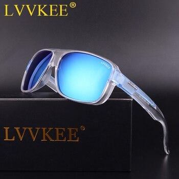 LVVKEE 2018 Brand Male Polarized Sunglasses Outdoor sports Men/Women Transparent Colorful frame Sun Glasses oculos mormaii surf
