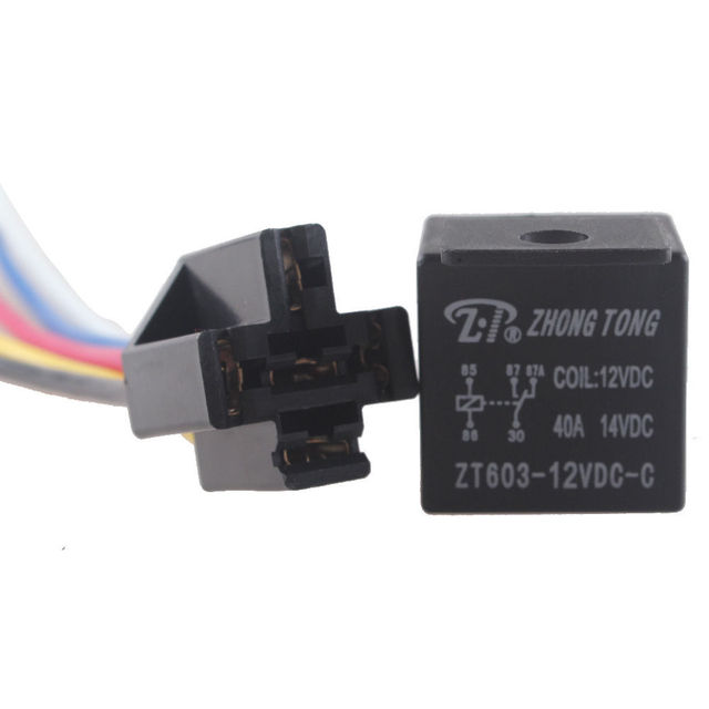 EE support 5 X Truck Auto DC 12V 40A Amp SPDT Relay Socket 5Pin