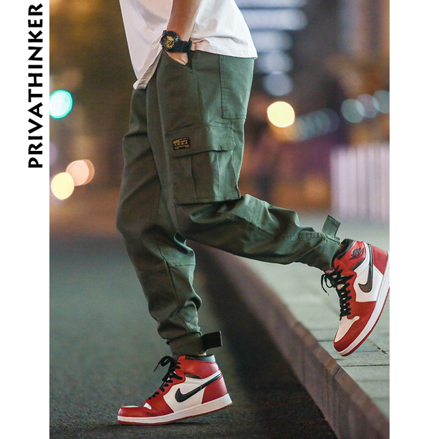 Privathinker Cargo Pants Men 2020 Mens Streetwear Joogers Pants Black Sweatpant Male Hiphop Autumn Pockets Trousers Overalls 43