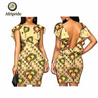 2019 African print sexy dresses for women summer casual dashiki backless party wedding ankara omighty fabric AFRIPRIDE S1925062