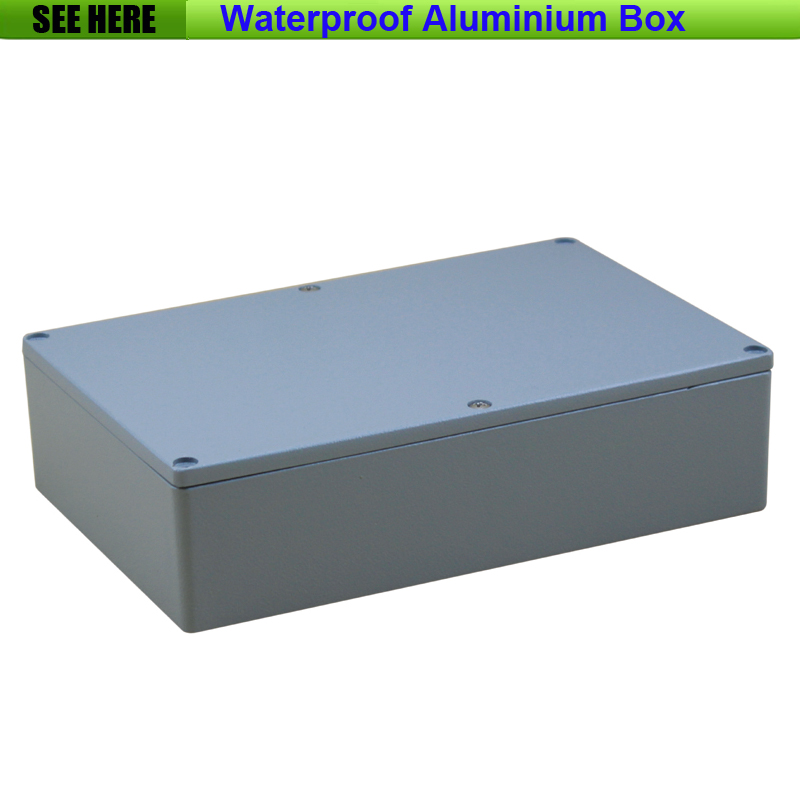 Free Shipping  1piece /lot Top Quality 100% Aluminium Material Waterproof IP67 Standard die cast aluminium box222*145*55mm 2014 hot sale high qulity ip65 die cast aluminum waterproof box 222 145 75mm with 6pcs screws and 2 iron mounting feet