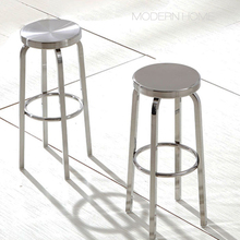 Современный классический дизайн Мода Роскошный Металлический чердак глянцевый или матовый нержавеющая сталь кухня комната счетчик бар низкий стул 1 шт
