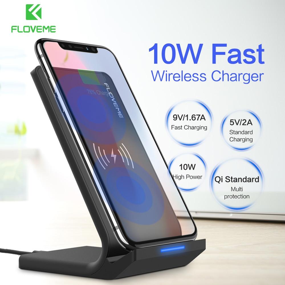 FLOVEME 10 W Qi Caricatore Senza Fili Per iPhone 8X8 Più Veloce Caricabatterie Wireless Per Il Samsung S8 S9 Galaxy S8 Più Nota 8 Telefono supporto