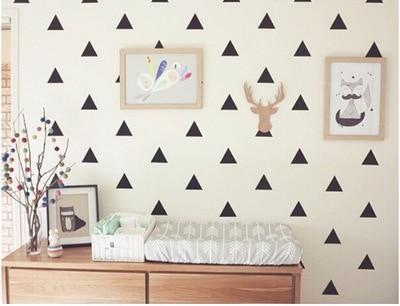 Diy Dreieck Kinderzimmer Schlafzimmer Dekoration Decor Wandaufkleber