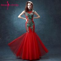 Red Lace Halter Mermaid Bridal Gown Chinese Cheongsam 2015 New Arrival Traje De Gala Party Dresses