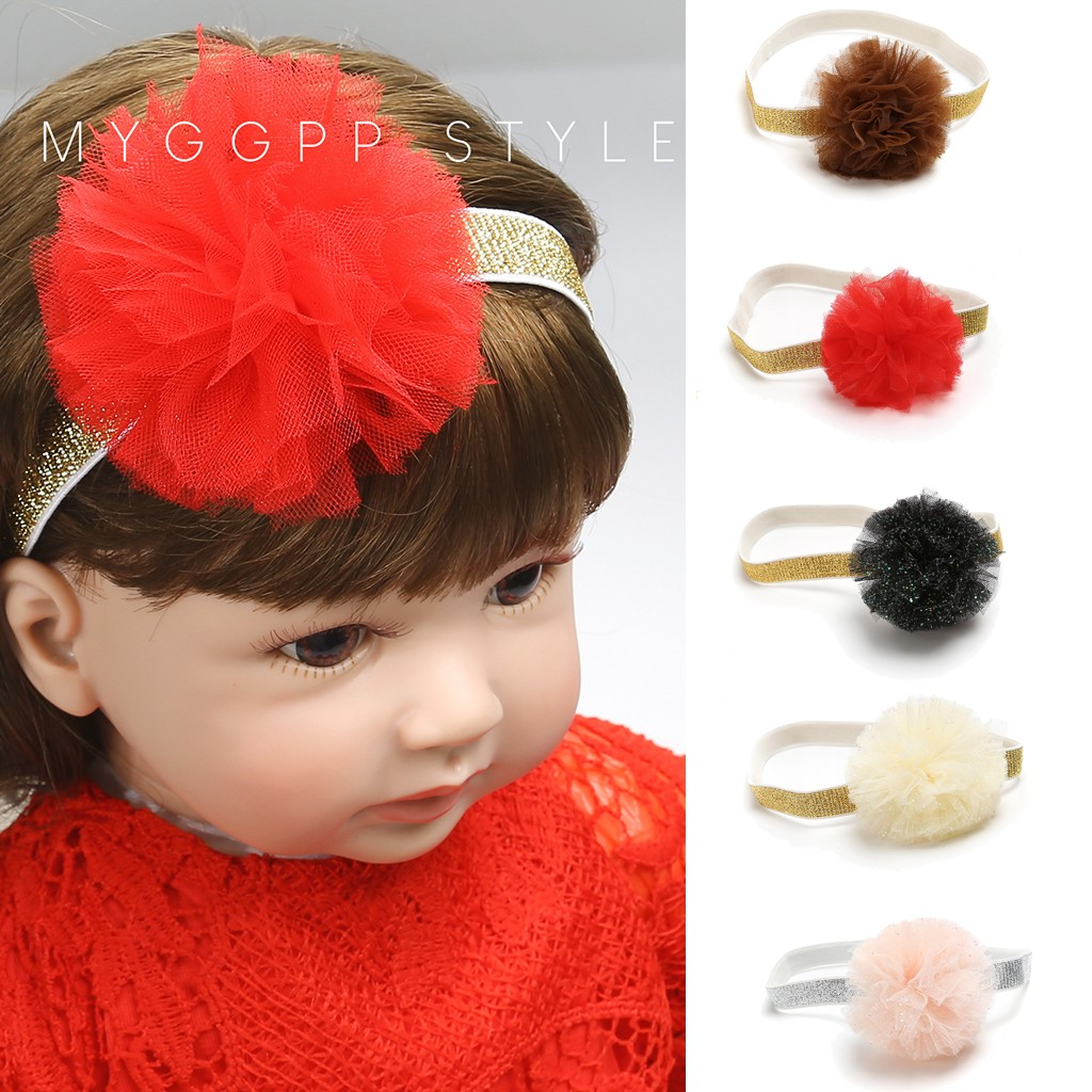 Fashion Baby Turban Beauty Cute Sweet Kids Girl Baby Headband Baby Hair Accessories Toddler Flower Hair Band Lacos De Menina