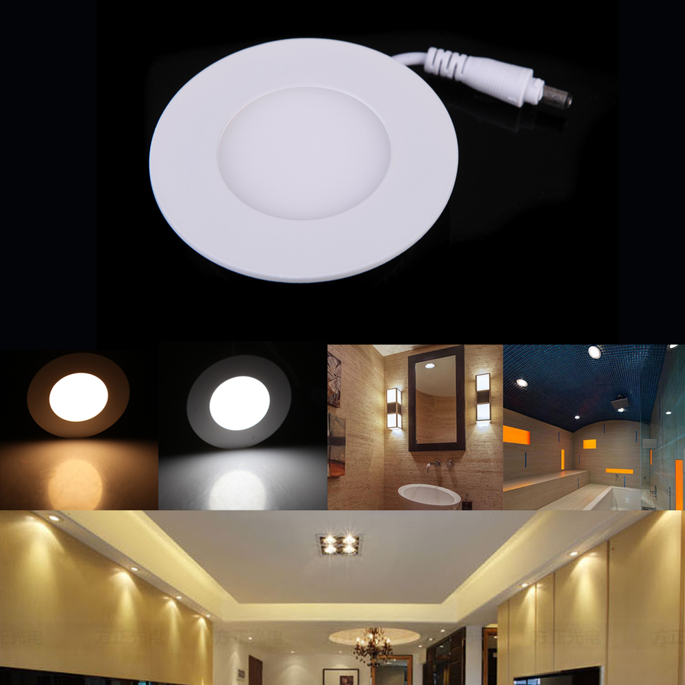 LED Recessed Ceiling Panel Light 12W Round Down Lamp Ultra