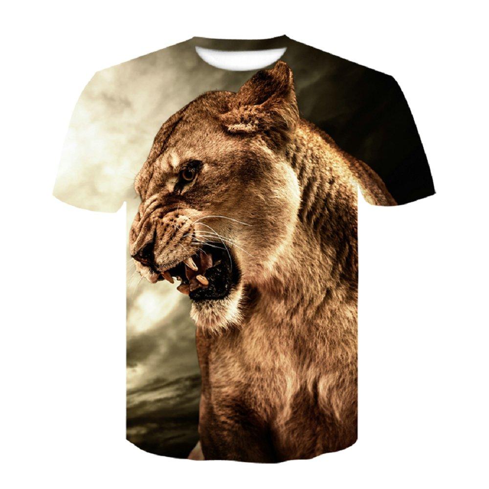 Wolf antelope tiger Newest 3D Print Lightning lion Cool T-shirt Men/Women Short Sleeve Summer Tops Tees T shirt Fashion