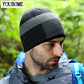 2017 Marca de Moda Gorros Sombrero de Los Hombres Sombreros de Invierno Para Hombres de Las Mujeres Skullies de Punto Capo Del Sombrero del Invierno de la Gorrita Tejida de Esquí Al Aire Libre Casquillo Del Deporte