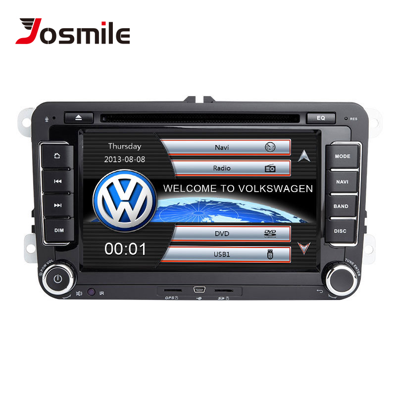 Josmile 2 Din Car DVD Player For VW Volkswagen Passat b6 b7 Skoda Octavia Superb 2 T5 <font><b>Golf</b></font> 5 Polo Seat leon Radio GPS Navigation image
