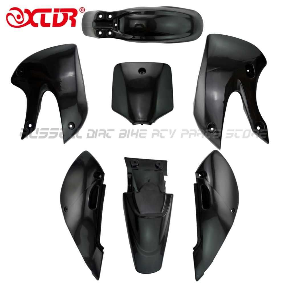 Peachy Plastic Fender Complete Fairing Kit For Kawasaki Klx 110 Creativecarmelina Interior Chair Design Creativecarmelinacom