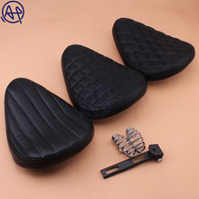 1pcs Motorcycle Roll Leather Solo Seat & 3