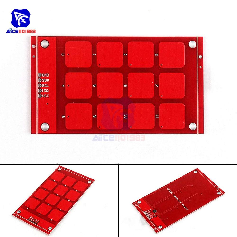 M/ódulo MPR121 Sensor Capacitivo Tactil de Proximidad Contacto I2C Breakout V12
