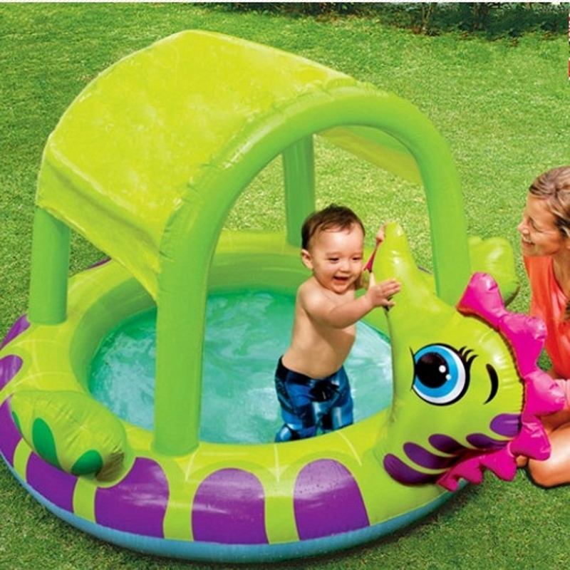 Intex Inflatable Swimming Pool With Sun Shelter Inflatable Pool Bathtub Intex 57110 In Pool