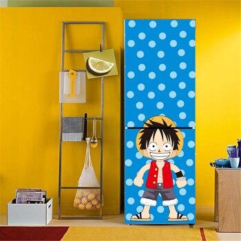 Stickers Décors Porte Réfrigérateur One Piece Luffy