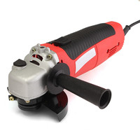 Doersupp 11000 RPM Angle Grinder 4 1 2 Electric Metal Cutting Tool Small Hand Held Red